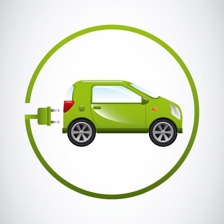 elektrische auto ontwerp, vectorillustratie eps10 grafische