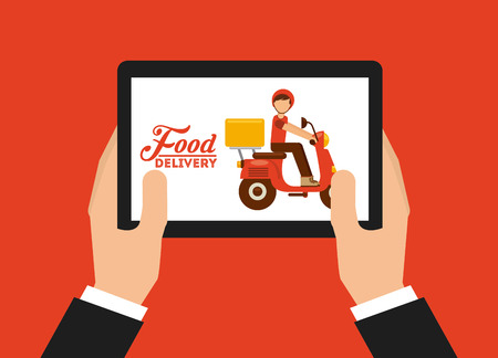 food delivery design, vector illustration eps10 graphic Stock Vector - 38808620