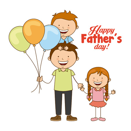 happy fathers day card: fathers day design, vector illustration eps10 graphic