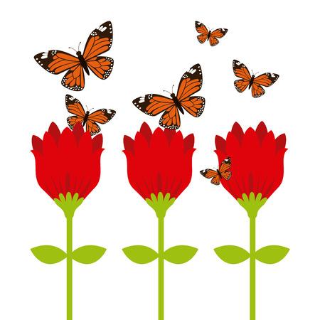 mariposas volando: mariposas vuelan dise�o, ilustraci�n vectorial gr�fico eps10