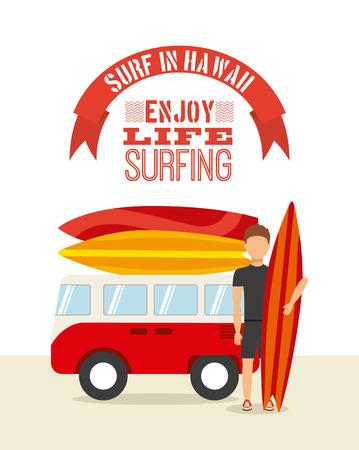 surfing sport design, vector illustration eps10 graphic Vector