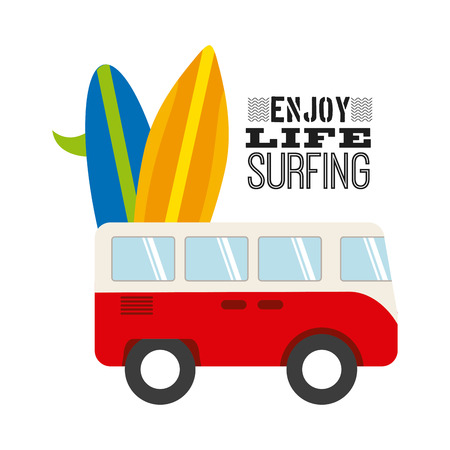 surfing sport design, vector illustration eps10 graphic Vector