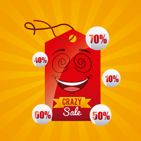 smyle: crazy sale design, vector illustration eps10 graphic