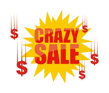 crazy sale design, vector illustration eps10 graphic Vector