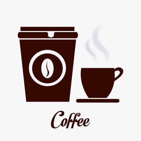 wares: Coffee design over white background, vector illustration.