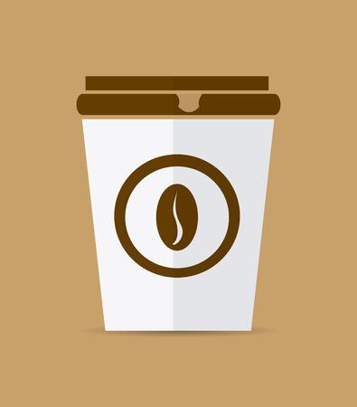 wares: Coffee design over beige background, vector illustration. Illustration