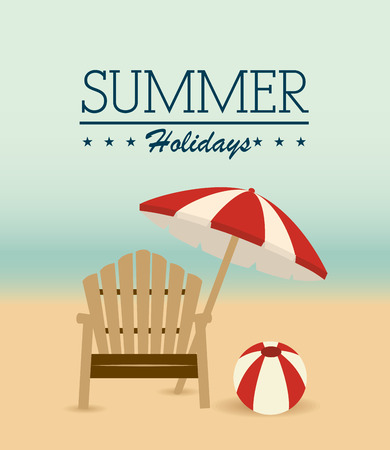 sun beach: Summer design over beachscape background, vector illustration.