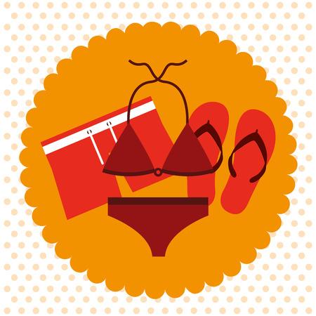 sandalias: diseño de las vacaciones de verano, ilustración vectorial gráfico eps10