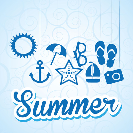 summer holidays: summer vacations design, vector illustration eps10 graphic
