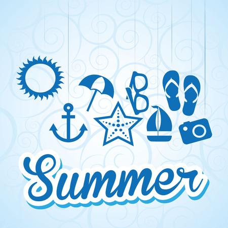 summer vacation: summer vacations design, vector illustration eps10 graphic