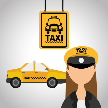 driver cap: taxi service design, vector illustration eps10 graphic