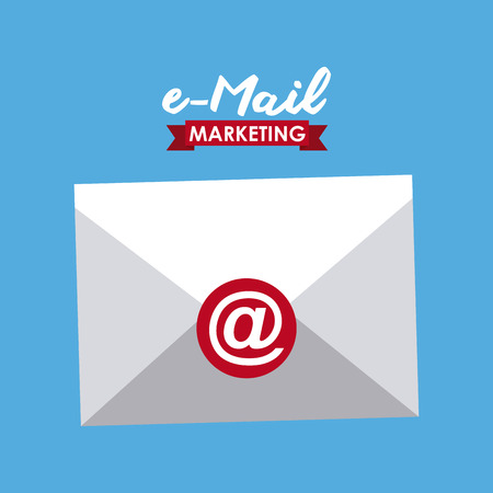 arroba: email concept design, vector illustration graphic