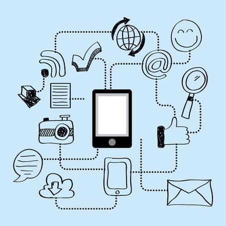 smartphone apps: smartphone apps design, vector illustration eps10 graphic
