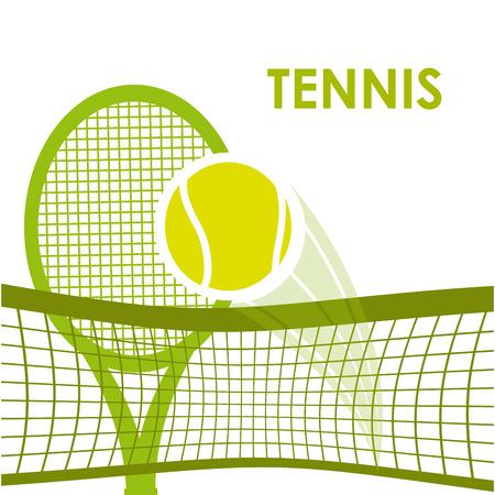 diseño del deporte del tenis, ejemplo gráfico del vector eps10 Vectores