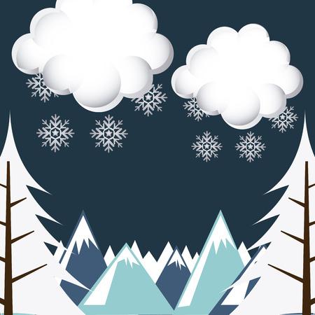 fiambres: clim�tico dise�o del paisaje, ilustraci�n vectorial gr�fico eps10