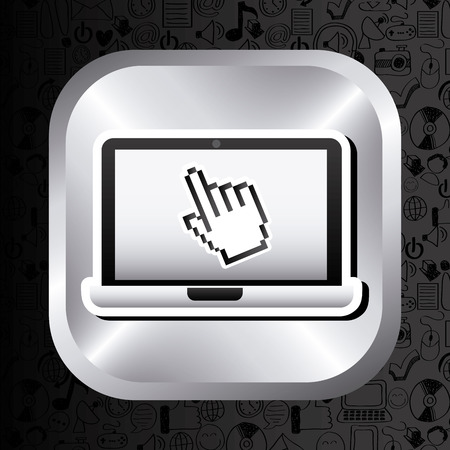 computer button: computer button design, vector illustration  graphic