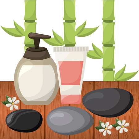alternative rock: nature spa design, vector illustration