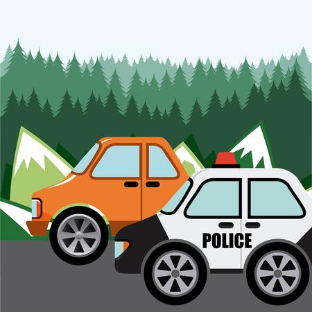 police patrol design, vector illustration eps10 graphic Vector