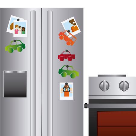 nevera: dise�o del aparato frigor�fico, ejemplo gr�fico del vector eps10