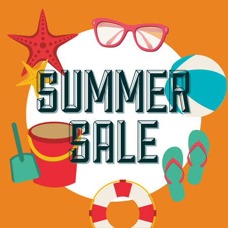 summer sale design, vector illustration graphic Vector
