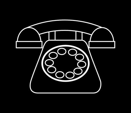 retro telephone: retro telephone design, vector illustration graphic Illustration