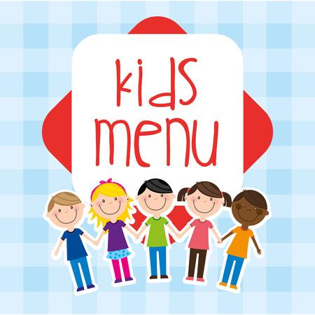 kids menu design, vector illustration graphic