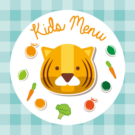 kids menu design, vector illustration graphic