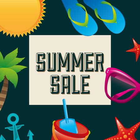 summer sale design, vector illustration graphic Vectores