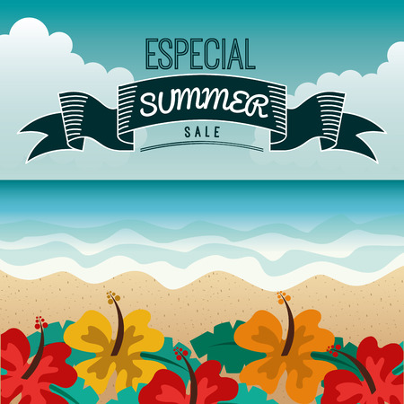 especial: summer sale design, vector illustration eps10 graphic