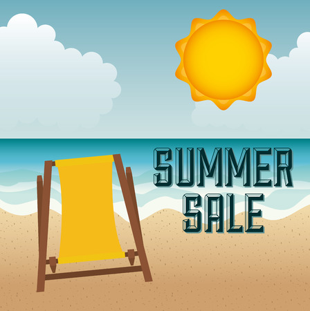 especial: summer sale design, vector illustration graphic Illustration