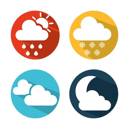 weather symbols: weather symbols design, vector illustration graphic