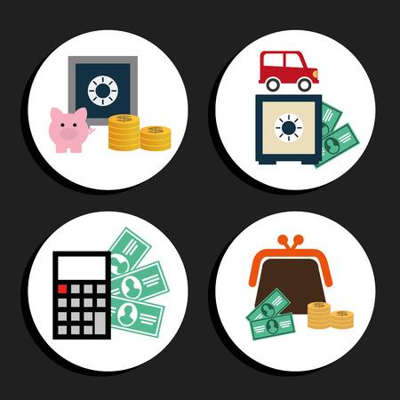 car bills: money icons design, vector illustration eps10 graphic Illustration
