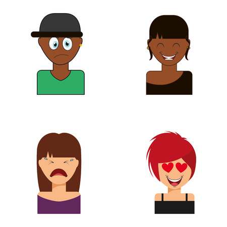 youngs: avatars people design, vector illustration graphic