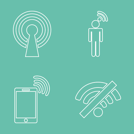 antena: wifi service design, vector illustration graphic