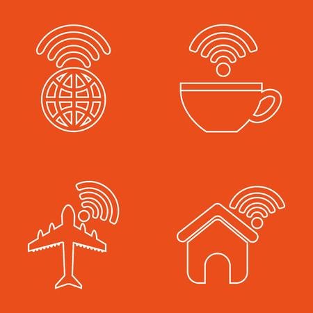 point chaud: la conception des services de wifi, illustration graphique