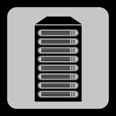 data center: data center design, vector illustration  graphic