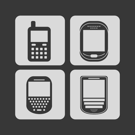 cellphone icons design, vector illustration graphic Vector