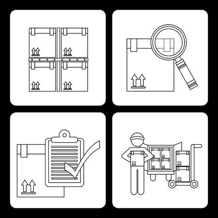 delivery service design, vector illustration graphic Vector
