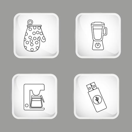flash point: set icons design, vector illustration graphic