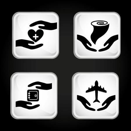 heart damage: insurance icons design, vector illustration eps10 graphic