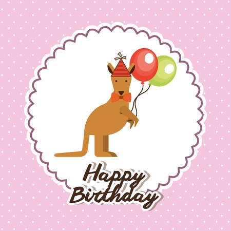 happy birthday design, vector illustration graphic
