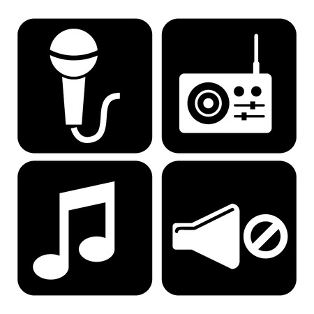 off the record: sound icons design, vector illustration graphic