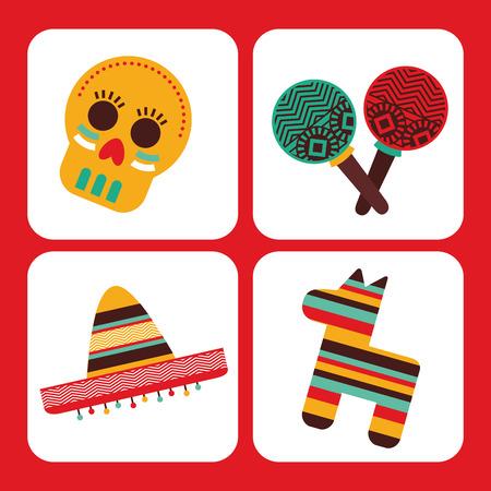 mexican culture design, vector illustration graphic Vector