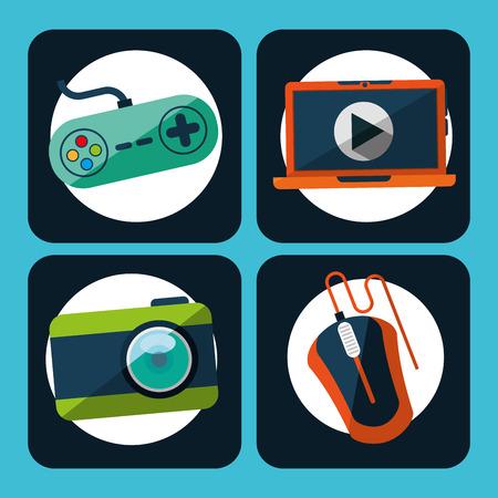 gadgets: gadgets icons design, vector illustration graphic