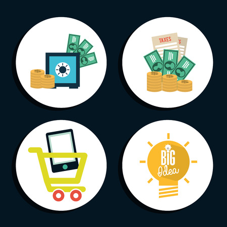 money icons: money icons design, vector illustration graphic