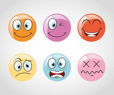 emoticons iconen ontwerp, vector, illustratie, grafisch
