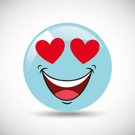 happy face: comic faces design, vector illustration graphic