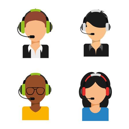 customer support design, vector illustration graphic