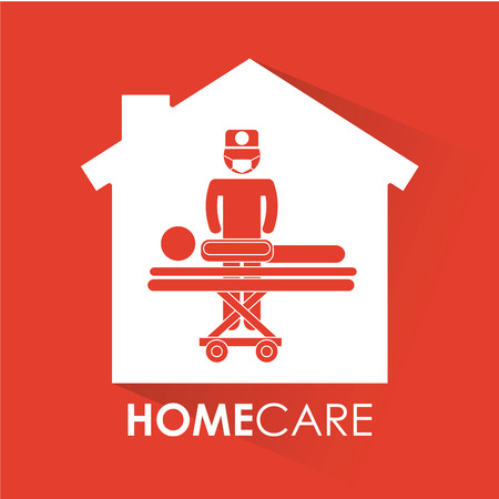 home care nurse: medical icon design, vector illustration graphic