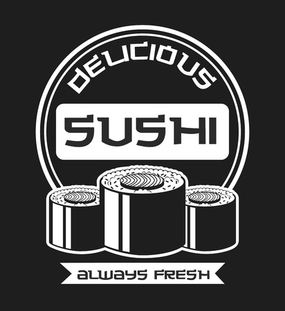delicious sushi design, vector illustration graphic Vector